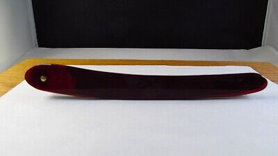 Translucent RED Vintage Straight Razor REPLACEMENT SCALES ( Handle)(4.500)