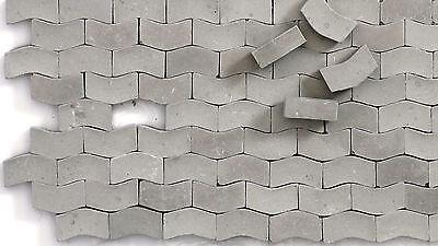 5.000 Keramik Pflastersteine Typ W dunkelgrau 1:87 Juweela