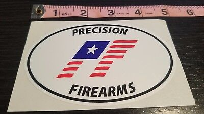 PRECISION FIREARMS PF Euro Oval Shaped Decal ( Man cave / Truck / Gun Safe )