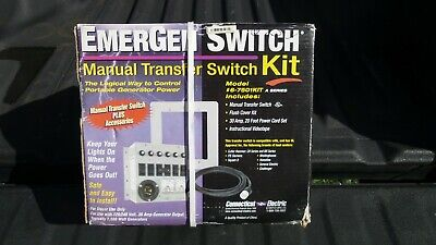 Connecticut Electric 6-7501kit Emergen Switch Manual Transfer Switch