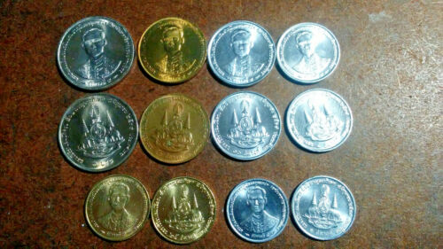 THAILAND: SIX COIN UNCIRCULATED SET, 0.01 TO 1 BAHT. KM #s 329-345