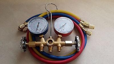 R410a R22 R134a Hvac Ac Refrigeration Manifold Gauge Set 3 3ft Hoses