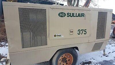 Air Compressor Sullair 375 Cfm John Deere Turbo Diesel Recon Engine