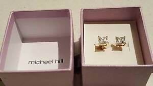 MICHAEL HILL Real 10ct Yellow Gold Stud Earrings 6.5mm $349 Mawson Lakes Salisbury Area Preview