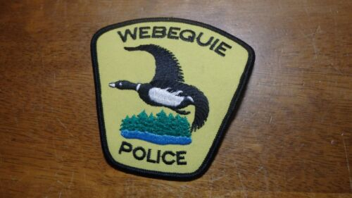 WEBEQUIE CANADA POLICE DEPARTMENT THUNDER BAY PATCH BX V 20