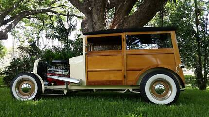 Ford 1928 Model A WOODY hotrod collector car hot rod custom