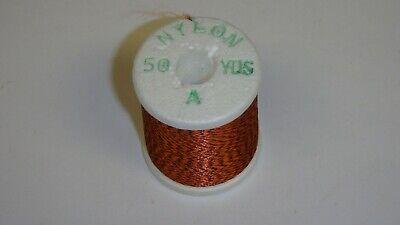 Vtg Gudebrod Variegated Thread Rainbow Nylon Fly Tying Rod Winding Sz A 50 Yards