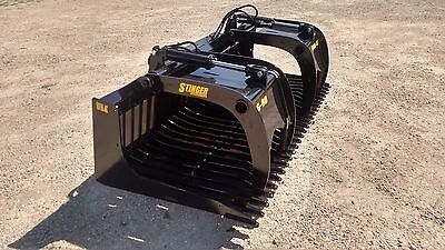 New 88 Skeleton Rock Bucket With Grapple Open Sides Design Skid Steer Tractor