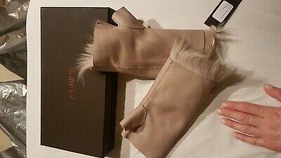 Karl Donoghue reversible fingerless toscana shearling gloves/cuffs BNIB coffee