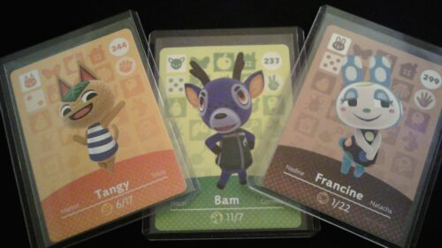 Animal Crossing Amiibo Card Series 3 Unscanned Individually Toploader & Sleeved