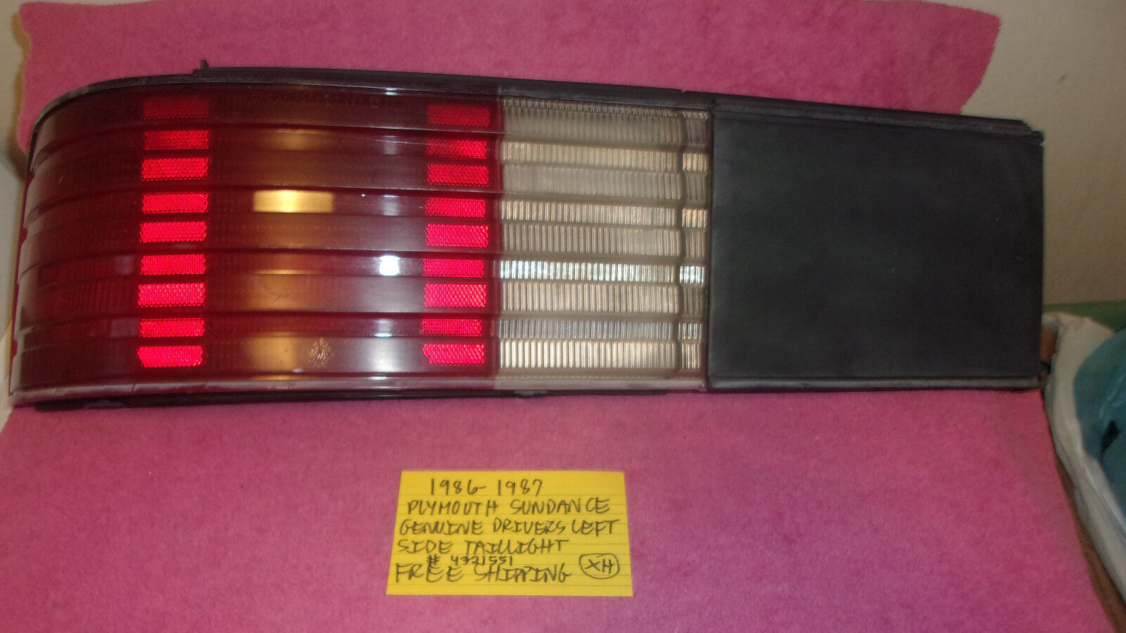 Used Plymouth Sundance Tail Lights For Sale 1993 Wiring Harness 1986 1987 Factory Oem Drivers Left Taillight Free Shipping