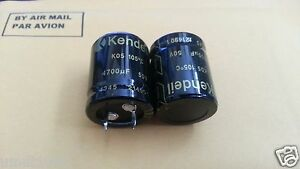 2pcs NEW KENDEIL 4700UF 50V 25x30mm K05 105C Low Esr HIEND CAPS AUDIO QUAD NAIM!