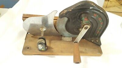 Antique Hand Crank Meat Bread Cheese Slicer Slicette