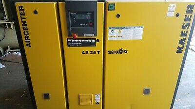 Kaeser AS 25 T 25hp Rotary Screw Air Compressor with Integrated Dryer  for sale  Christiana