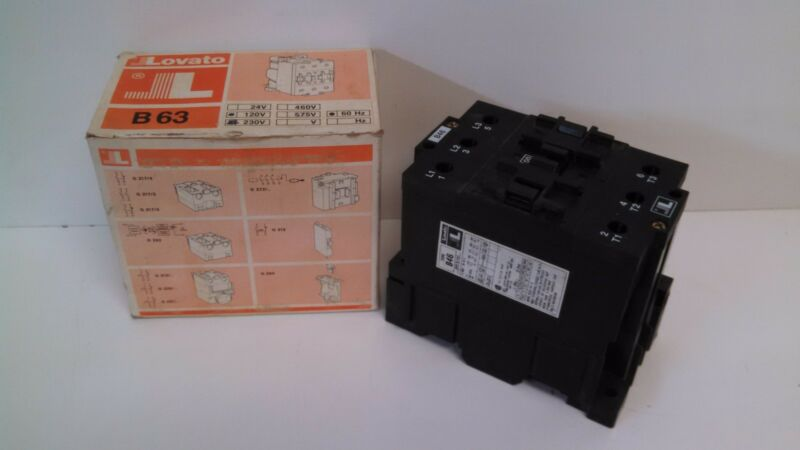 NEW OLD STOCK! LOVATO 120V CONTACTOR TYPE B63