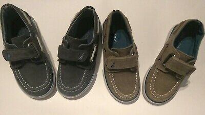 Nautica Boys/Toddler  'Little River 2' Boat Shoes Loafers Velco Size 9