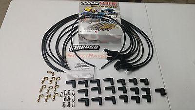 (Moroso Mag-Tune Universal Spark Plug Wires Kit 135 Degree HEI / Socket Ford SBC)