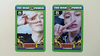 EXO The War The Power Of Music 4th Repackage Official photocard -  Chen set