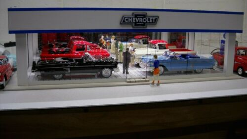 Chevrolet vintage-style model car dealership showroom diorama 1/24 1/25 scale!