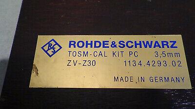 Rohde Schwarz Zv-z30 1134.4293.02 Tosm 3.5 Mm Cal Kit
