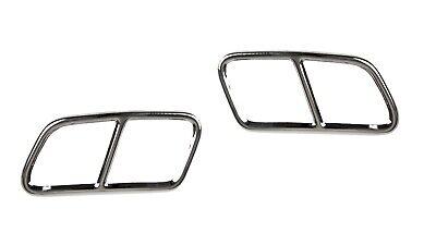 2x Chrome Auspuffblenden Abdeckung Auspuff Mercedes W218 CLS AB_5