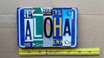 License Plate Sign, ALOHA, cf. back too! (Buy this 1 or email me for spcl order)