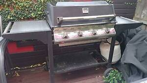 Captain Cook 4 burner barbecue with metal trolley and cover Epping Ryde Area Preview