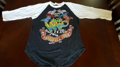 The Who Vintage Concert t shirt Buffalo NY The Clash Santana Farewell Tour L