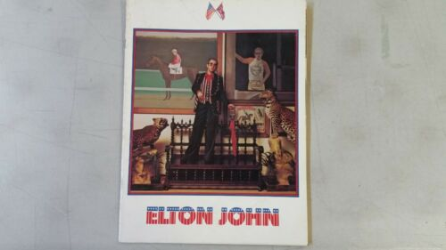 Elton John Tour 1974 Concert Event Program Very Good Condition Very Rare