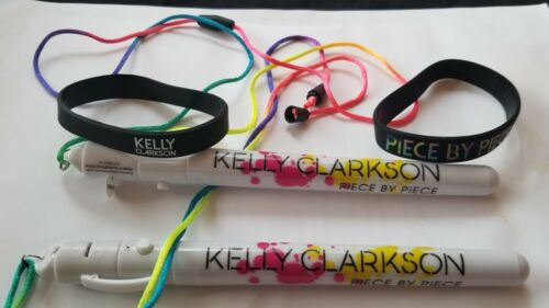 2 Kelly Clarkson pocket glow sticks and 2 wrist bands Official Tour Merchandise