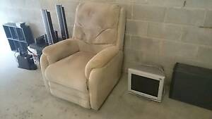 Fabric reclining armchair, recline mechanism on side not working Windsor Brisbane North East Preview