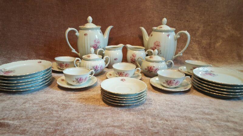 Wolfram Wiesau Bavarian Pink Rose Tea Set
