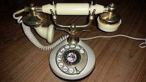 ORIGINAL VINTAGE ROTARY DIAL FRENCH STYLE TELEPHONE Ivory & Brass Adelaide CBD Adelaide City Preview
