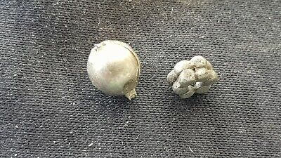 Two lovely tiny Viking silver 0.26 adornments Please must read description L134x