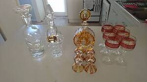 Crystal decanter, wine glasses Prahran Stonnington Area Preview