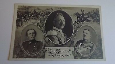 1914 - 1918 Original Postcard German Kaiser & his Generals Haeseler & Goltz 5