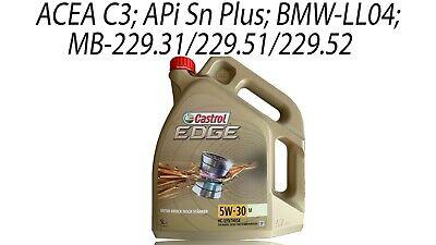 Castrol Edge 5W-30 M BMW Longlife-04 Aceite de Motor 1x 5 Litro