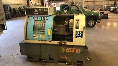 Cnc Lathe Mighty Viper Vt-15l Fanuc Controls