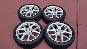 4 x 18 inch Genuine Mazda 3 MPS alloy wheels and tyres Rooty Hill Blacktown Area Preview