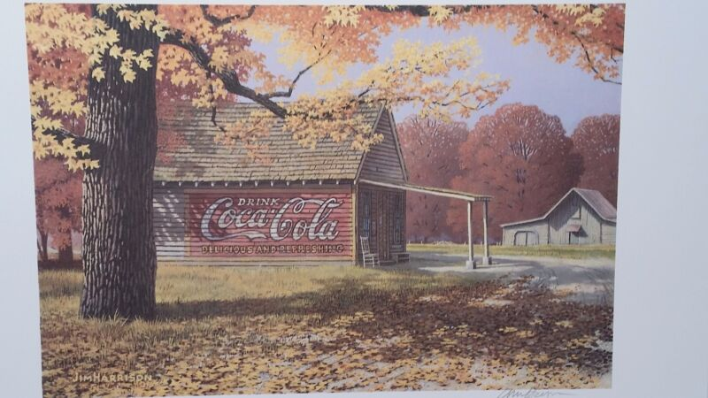 COCA COLA in September, Jim Harrison, Sign on Building, Autumn Colors