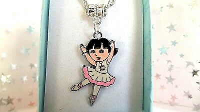 NCE SILVER PLATED CHAIN 18 INCH  NECKLACE GIFT BOX,BIRTHDAY  (Dora The Explorer Birthday)