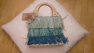 blau hellblau dunkelblau tasche meerjungfrau meer wasser elfe fee stroh - Blaues Wasser Fee Kostüm