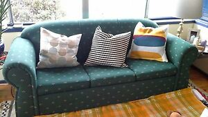 Dark Green Fabric Sleeper Sofa, Comfortable and Cosy Inglewood Adelaide Hills Preview