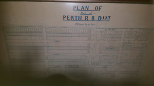FRAMED BLUEPRINT OF PLAN OF PERTH RBD Beechboro Swan Area Preview