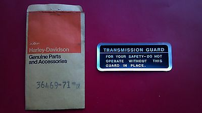 Harley Davidson Snowmobile Transmission Guard Decal - NOS