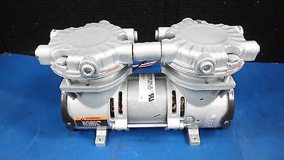 Gast Two Stage Rocking Piston Air Compressor Pump Laa-v118-nq 230v .5 A 3