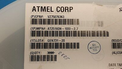 5 Pcs At25160n-10si-2.7 Atmel Ic Eeprom 16kbit 3mhz 8soic