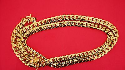 135 Grams Miami Cuban Link Necklace Chain 14K Solid Yellow Gold 9 mm Gold Video
