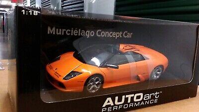 New 1:18 scale model by AutoArt Lamborghini Murcielago Concept Car in Orange.