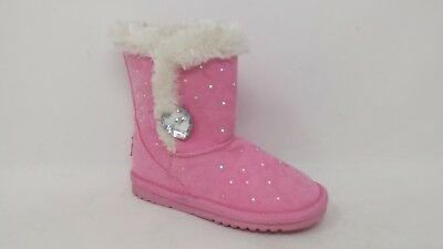 NEW! Girls Piper Aimee 11581 Fur-lined Faux Suede boot - 127X Pink pm ()